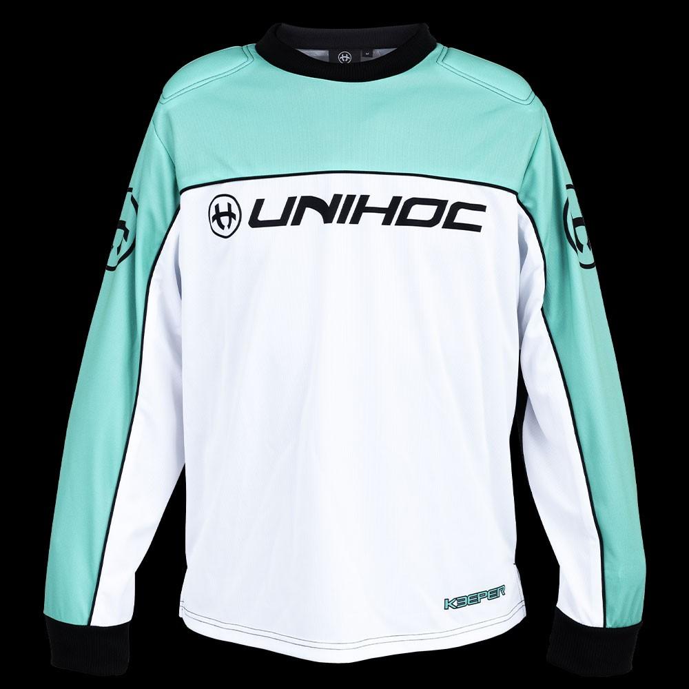 unihoc Goalieshirt Keeper Junior türkis/weiss