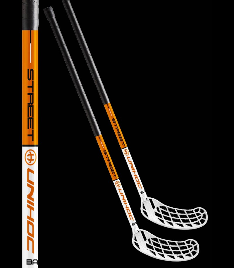 unihoc Basic Street white/orange (2-Pack)