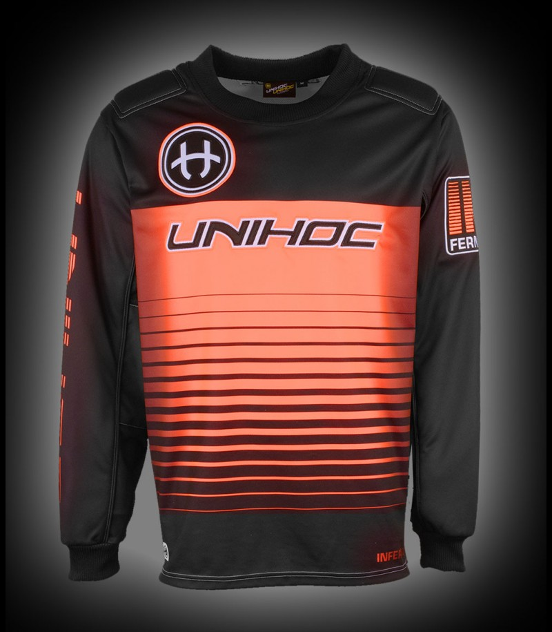 unihoc Goaliepullover Inferno Junior schwarz/neon orange