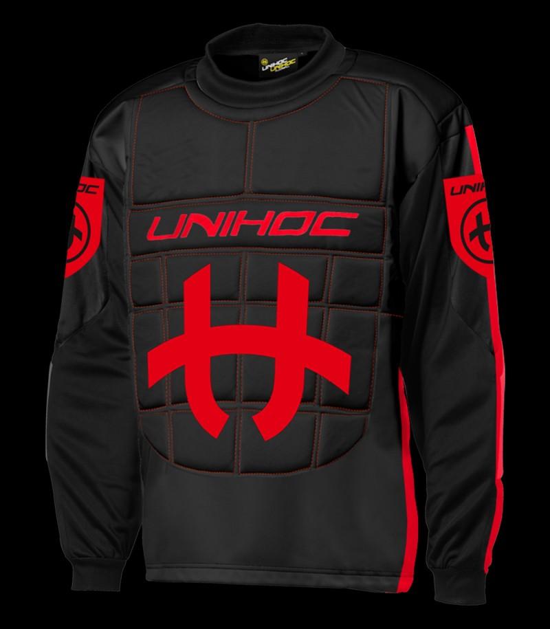 unihoc Torhüterpullover Shield Junior schwarz/rot