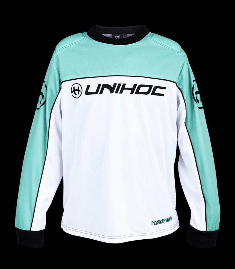 unihoc Goalieshirt Keeper Senior türkis/weiss
