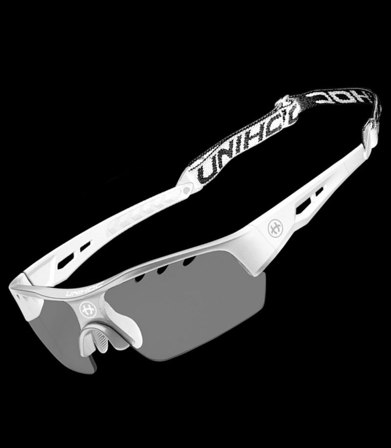 unihoc Sportbrille Victory senior weiss/silber