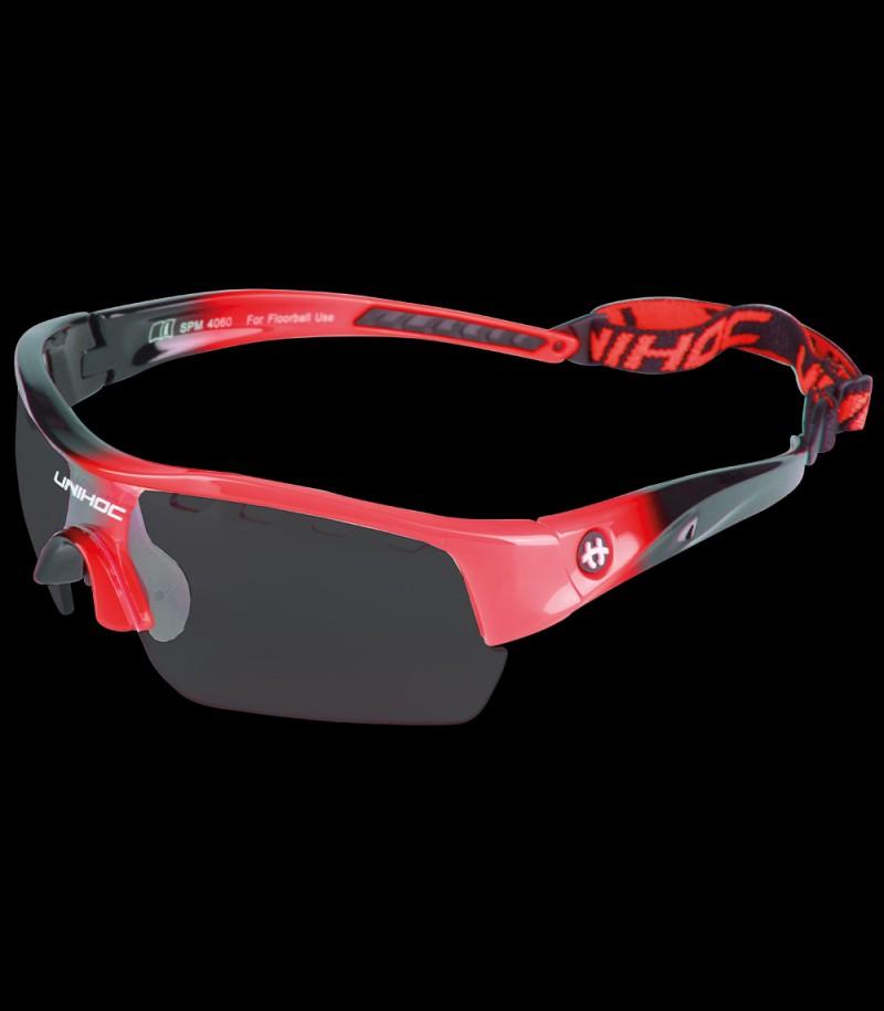 unihoc Sportbrille Victory Junior schwarz/neonrot