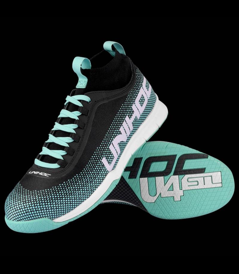 unihoc U4 STL MidCut Men turquoise/black