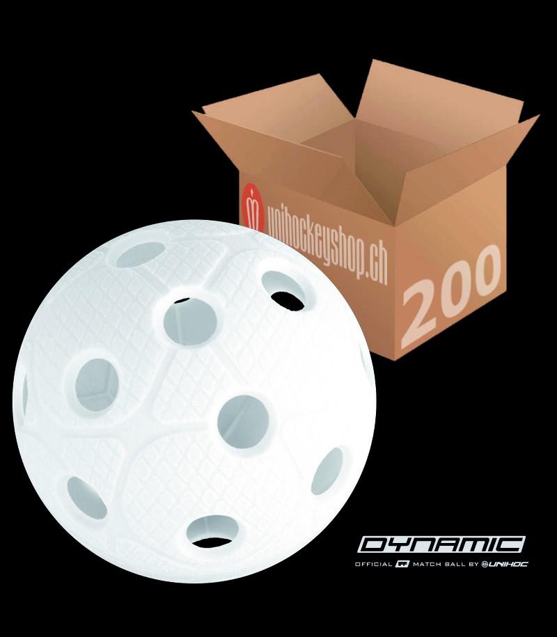 unihoc Matchball Dynamic weiss (200er Pack)