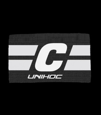 unihoc Captainbinde LEADER schwarz/weiss
